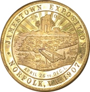 So-Called Dollar - Jamestown Tercentennial Exposition – obverse