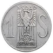 1 Schilling - NSDAP Weihnachtsspende – obverse