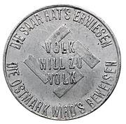 Token - NSDAP (Volk will zu Volk) – obverse