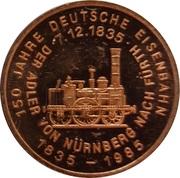 Token - 150 years of German Railroads (Borsig 1841) – reverse
