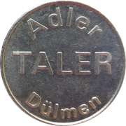 Tiber Taler - Dr. Graute's Apotheken (Dülmen) – reverse