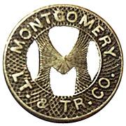 1 Fare - Montgomery LT. & TR. CO. (Montgomery, Alabama) – obverse