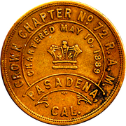 1 Penny - Crown Chapter (Pasadena, California) – obverse