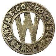 1 Fare - Wash. RY. &. E. Co. Cap. Trac. Co. (District Of Columbia) – obverse