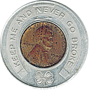 Encased Penny - Rexall – obverse