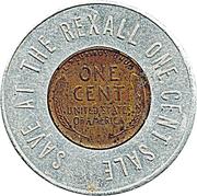 Encased Penny - Rexall – reverse