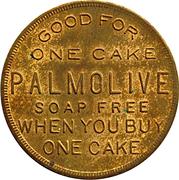 Token - 1 Cake Palmolive Soap Free (Chicago, Illinois) -  obverse