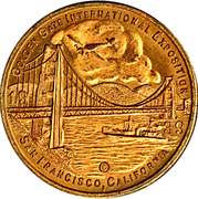 Token - Golden Gate International Exposition – obverse