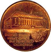 Token - The Department Of The Treasury (San Francisco) – reverse