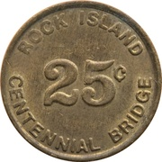 25 Cents - Rock Island Centennial Bridge (Rock Island, Illinois) – obverse
