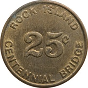 25 Cents - Rock Island Centennial Bridge (Rock Island, Illinois) – reverse