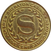 25 Cent Gaming Token - Casino Sheraton (Lima) – obverse