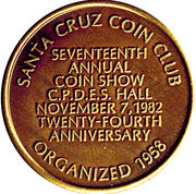 Token - Santa Cruz Coin Club – obverse