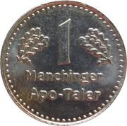 1 Manchinger Apo Taler - Höflich Apotheke am Kreisel (Manching) – reverse