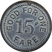 15 Cents - H. T. B. Line (Beaver Falls, Pennsylvania) – reverse
