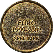 Token - Albert II (Euro 1999-2002 Specimen) – reverse