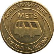 Token - Evansville Public Transit Dept. – obverse