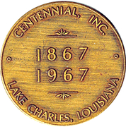 Token - Lake Charles Centennial – reverse