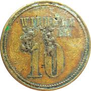 10 Pfennig - Wilhelm Volker – obverse