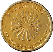 Token - Munich 1972 - XX Olympic Games – reverse