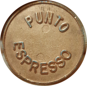 Coffe machine token - Punto Espresso – obverse