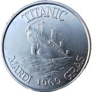 Mardi Gras Token - Clipper Carnival Club Inc. (Titanic) – reverse