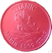 Mardi Gras Token - Clipper Carnival Club Inc. (Red Titanic) – reverse