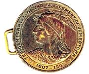 Token - Ter-Centennial Of The Settlement Of Jamestown – obverse