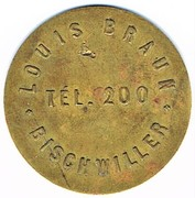 1 Franc - Syndicat des entrepositaires de bières Louis Braun (Bischwiller) – obverse