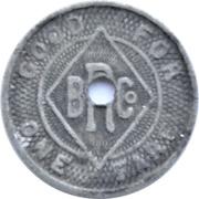 1 Fare - Binghamton Railway Co. (Binghamton, NY.) – reverse