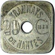 20 Centimes Tramways de Nantes Grand C [44] – obverse
