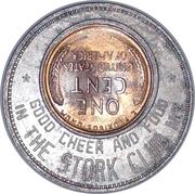 Encased Penny - Stork Club Of New York – reverse