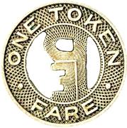 1 Token Fare - Pacific Electric Railway Co. – reverse