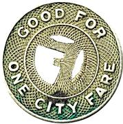 1 City Fare - Fay Motor Bus Co. – reverse