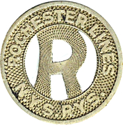 1 Fare - Rochester Lines  N.Y.S. Rys. (Rochester, NY) – obverse