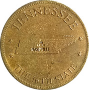 Token - Shell's States of the Union Coin Game, Version 1 - Bronze Collector's Coin Set (Tennessee) – obverse