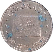 Token - Shell's States of the Union Coin Game, Version 1 - Bronze Collector's Coin Set (Colorado) – obverse