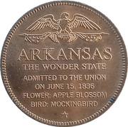 Token - Shell's States of the Union Coin Game, Version 1 - Bronze Collector's Coin Set (Arkansas) – reverse