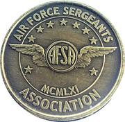 Token - Air Force Sergeants Association – obverse