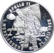 Medallion - Apollo 11 moon landing – obverse