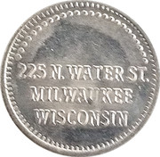 Token - Paradise Books (Milwaukee, Wisconsin) – reverse