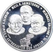 Medallion - Apollo 11 moon landing – reverse