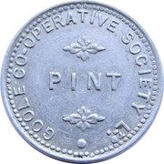 Pint - Goole Co-operative Society – obverse