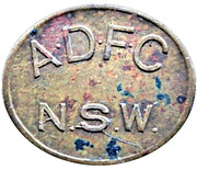 1  Pence - ADFC Bottle Token – obverse