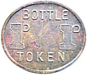 1 Pence Bottle Token - ADFC  – reverse