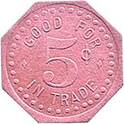 5 Cents - O. Paape (South Saint Paul, Minnesota) – reverse