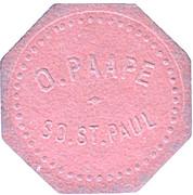 50 Cents - O. Paape (South Saint Paul, Minnesota) – obverse