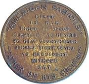"Token - George Washington (""American Fabious"") – reverse"