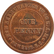1 Penny - Chapter No. 46 New Bern – obverse