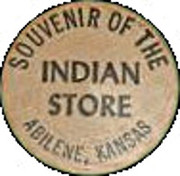Wooden Nickel - Indian Store (Abeline, Kansas) – obverse